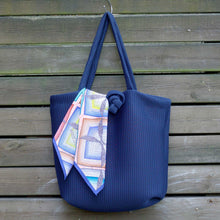 Load image into Gallery viewer, Navy Marshmallow Tote Bag