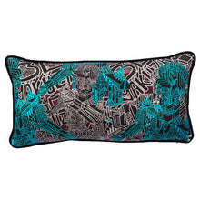 Load image into Gallery viewer, Yakuza 3D Blue - Rectangular Cushion