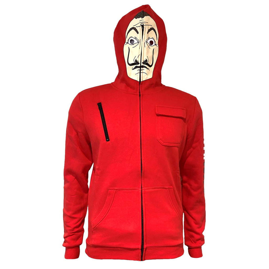 La Casa De Papel - Mask Cosplay Zip-Up-Hoodie-TheRockFanShop