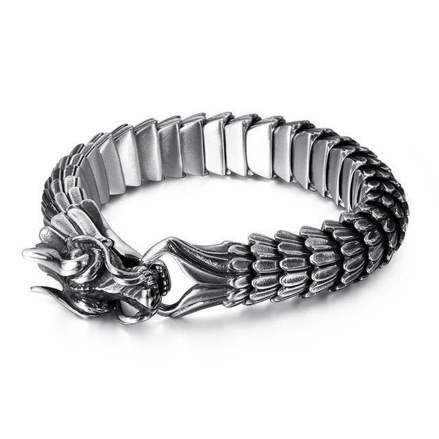 Viking Dragon Link Chain Bracelet