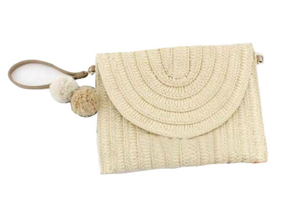 Woven Boho Rattan Rainbow Shoulder Strap Natural Light