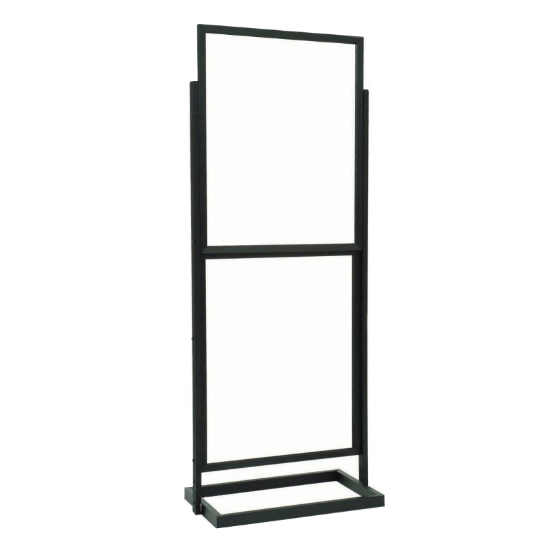Z-Load™ Top Loading Stanchion Frame, 22 x 28 Inches Poster Sign (Black)