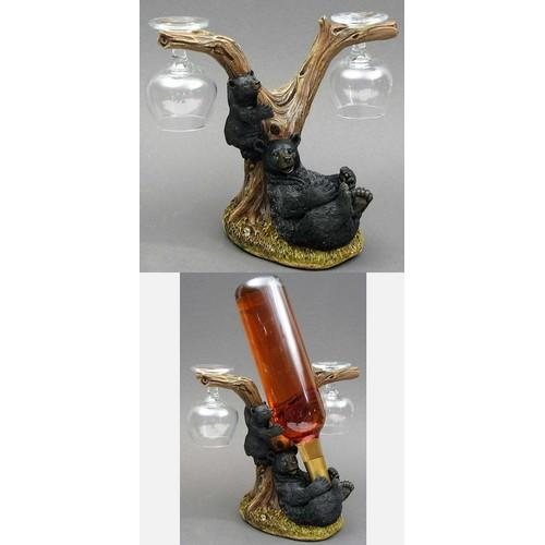 Bear Wine & Goblet Holder Q484-021-12911