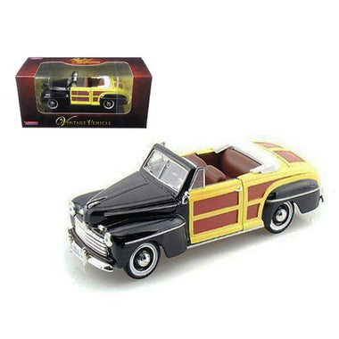 1946 Ford Woody Sportsman Black 1/32 Diecast Car Model by Arko Products F977-04601bk