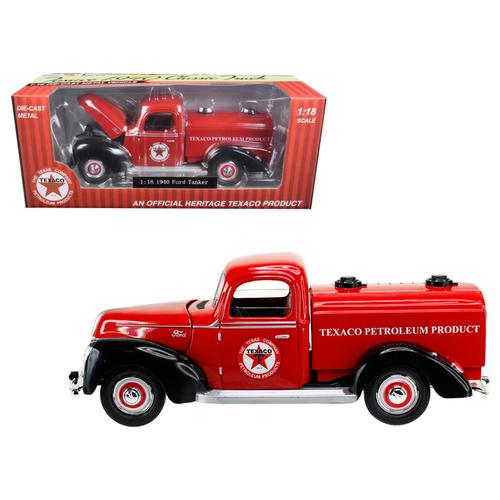 "1940 Ford Tanker ""Texaco"" Red 1/18 Diecast Model Car by Beyond Infinity F977-0605"