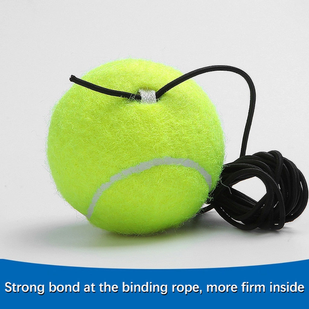 1 Set Tennis Trainer Tennis Base+Training Ball with Rope Durable Easy to Use Trainer Baseboard Sparring Device Tool #D
