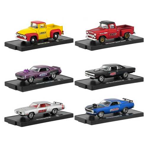 Drivers 6 Cars Set Release 58 in Blister Packs 1/64 Diecast Model Cars by M2 Machines F977-11228-58