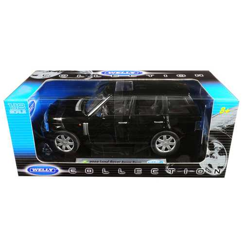2003 Land Rover Range Rover Black 1/18 Diecast Model Car by Welly F977-12536bk