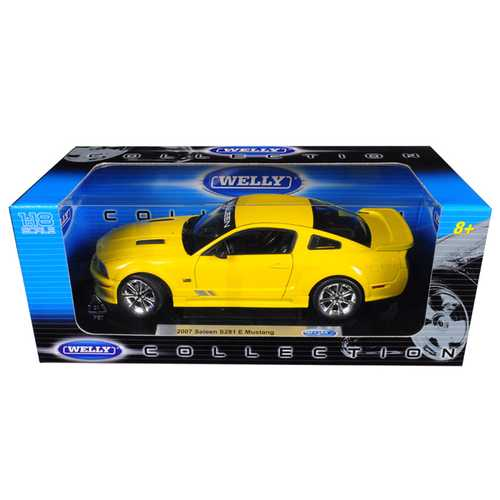 2007 Saleen Mustang S281E Yellow 1/18 Diecast Model Car by Welly F977-12569y