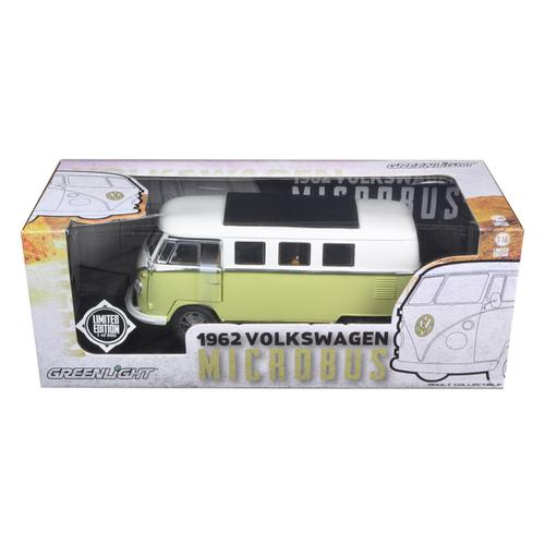 1962 Volkswagen Microbus Olive Green Limited to 300pc 1/18 Diecast Model Car by Greenlight F977-12851B