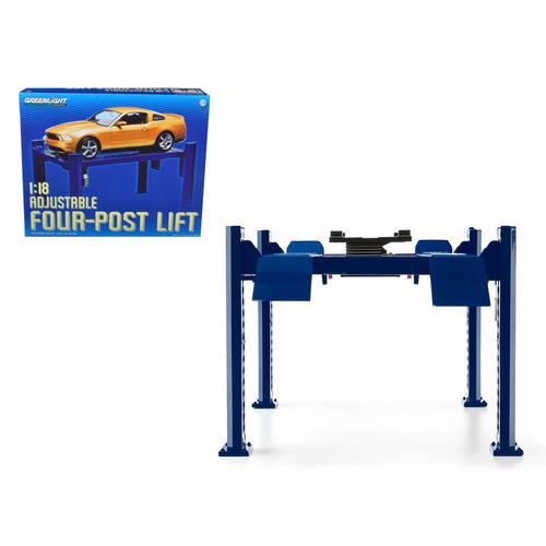 Four Post Lift Blue for 1/18 Scale Diecast Model Cars by Greenlight F977-12884