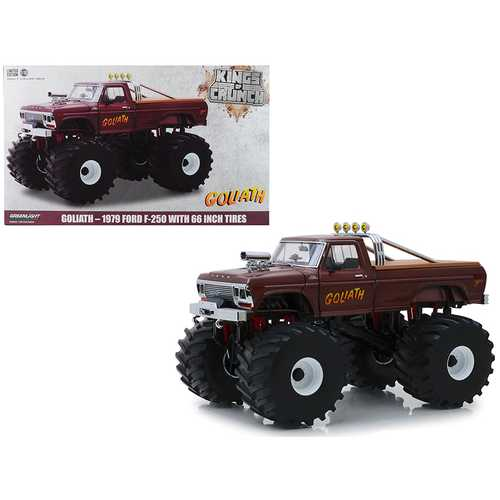 "1979 Ford F-250 Ranger Monster Truck with 66-Inch Tires ""Goliath"" ""Kings of Crunch"" 1/18 Diecast Mo F977-13540"