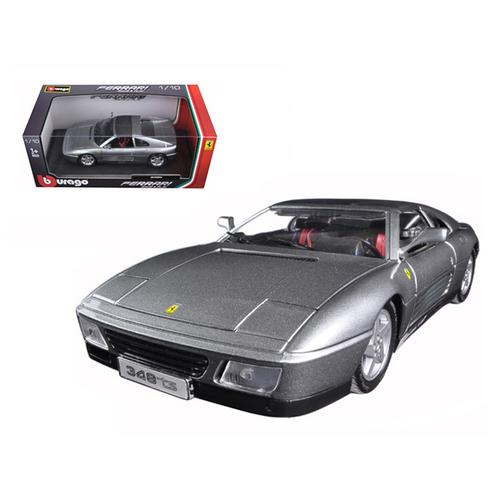 Ferrari 348 TS Grey 1/18 Diecast Model Car by Bburago F977-16006gry