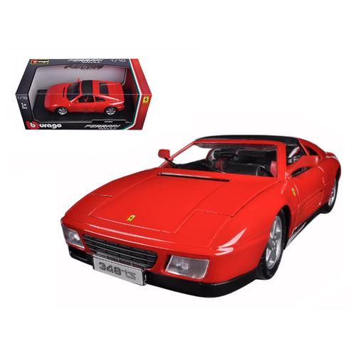 Ferrari 348 TS Red 1/18 Diecast Model Car by Bburago F977-16006r