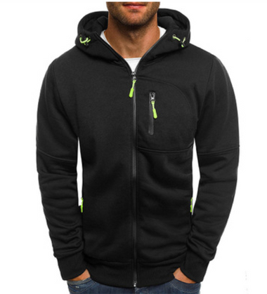 Men Hoodie Cotton Jacket