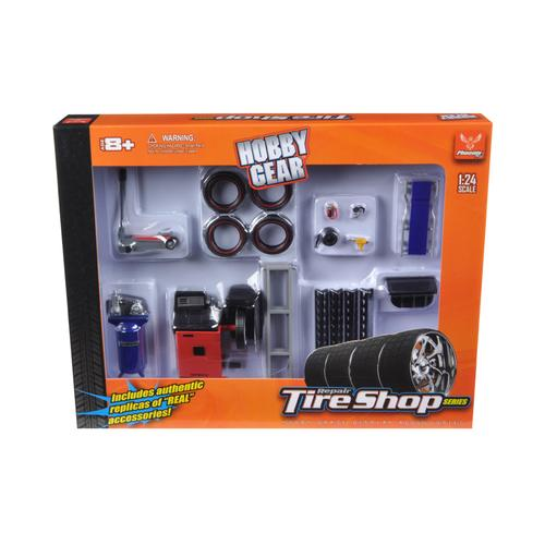 Tire Repair Shop Accessories Set Ford 1/24 Diecast Model Cars by Phoenix Toys F977-18422