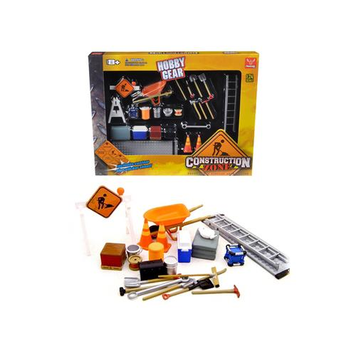 Construction Accessories Set For 1/24 Diecast Car Models by Phoenix Toys F977-18425