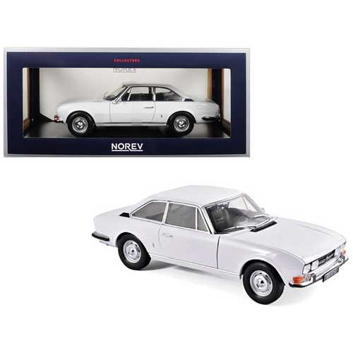 1969 Peugeot 504 Coupe Arosa White 1/18 Diecast Model Car by Norev F977-184825