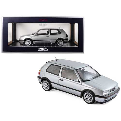 "1996 Volkswagen Golf GTI Silver ""20th Anniversary Edition"" 1/18 Diecast Model Car by Norev F977-188419"
