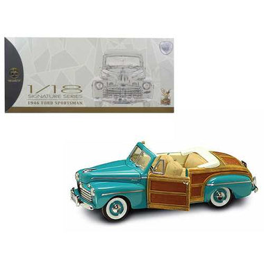1946 Ford Sportsman Woody Green 1/18 Diecast Model Car by Road Signature