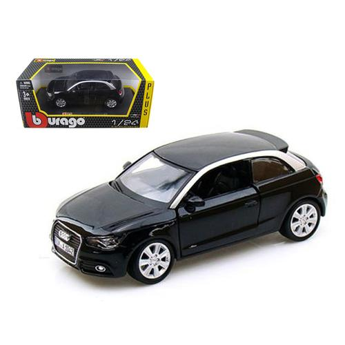 Audi A1 Black 1/24 Diecast Car Model by Bburago F977-21058bk