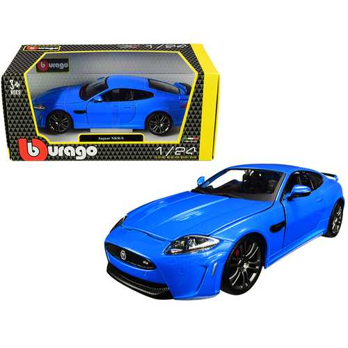 Jaguar XKR-S Metallic Blue 1/24 Diecast Model Car by Bburago F977-21063bl