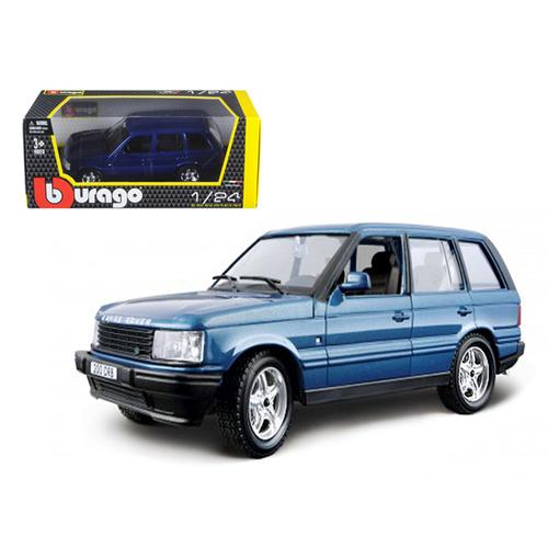 Land Rover Range Rover Blue 1/24 Diecast Car Model by Bburago F977-22020bl