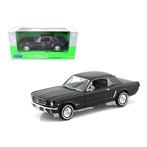 1964 1/2 Ford Mustang Coupe Hard Top Black 1/24-1/27 Diecast Model Car by Welly F977-22451bk