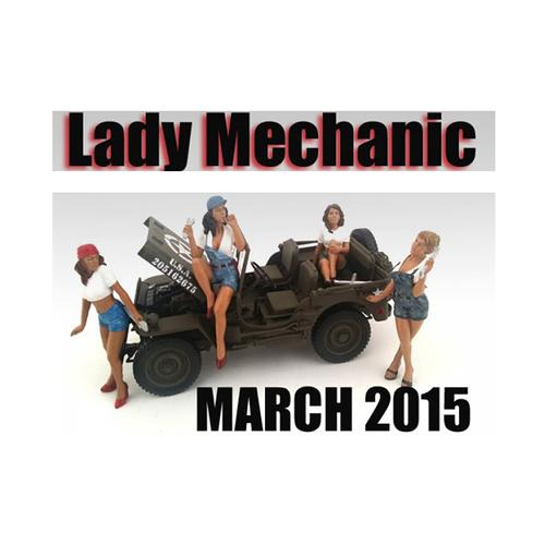 """Lady Mechanics"" 4 Piece Figure Set For 1:18 Scale Models by American Diorama F977-23859-23860-23861-23862"
