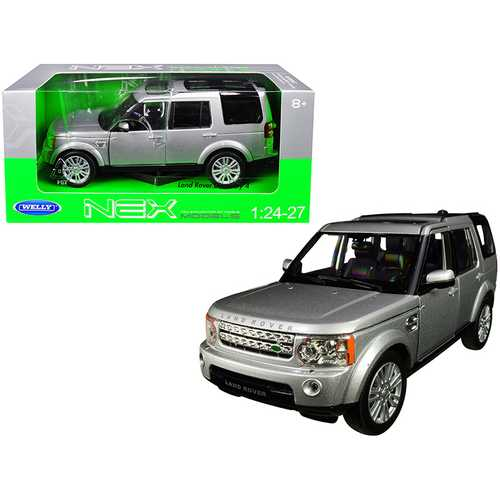 Land Rover Discovery 4 Silver 1/24-1/27 Diecast Model Car by Welly F977-24008s