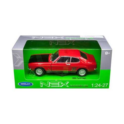 1969 Ford Capri Red 1/24 - 1/27 Diecast Model Car by Welly F977-24069R