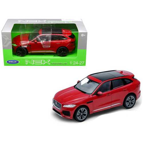 Jaguar F-Pace Red 1/24 - 1/27 Diecast Model Car by Welly F977-24070R