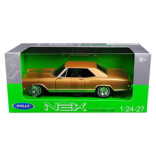 1965 Buick Riviera Gran Sport Gold 1/24-1/27 Diecast Model Car by Welly F977-24072GLD