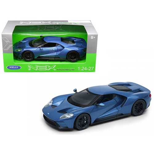 2017 Ford GT Blue 1/24 - 1/27 Diecast Model Car by Welly F977-24082BL