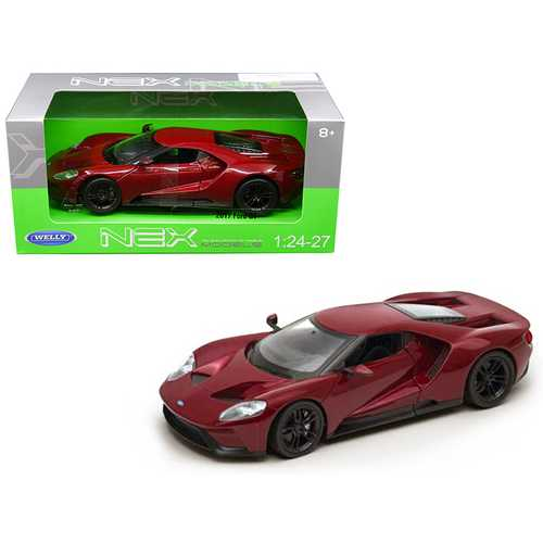 2017 Ford GT Red 1/24 - 1/27 Diecast Model Car by Welly F977-24082R