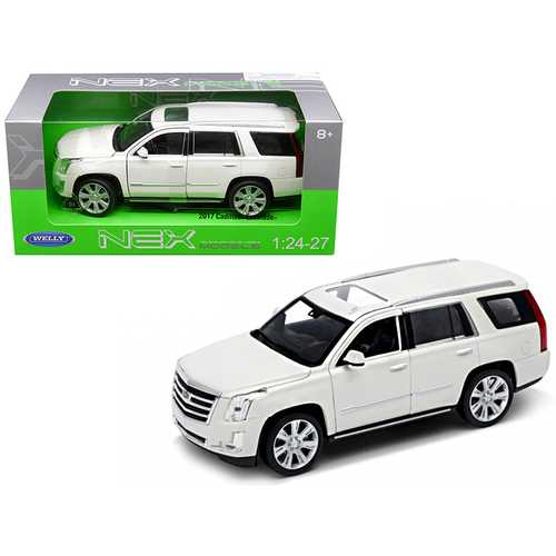 2017 Cadillac Escalade with Sunroof White 1/24-1/27 Diecast Model Car by Welly F977-24084W