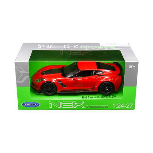 2017 Chevrolet Corvette Z06 Red 1/24-1/27 Diecast Model Car by Welly F977-24085R