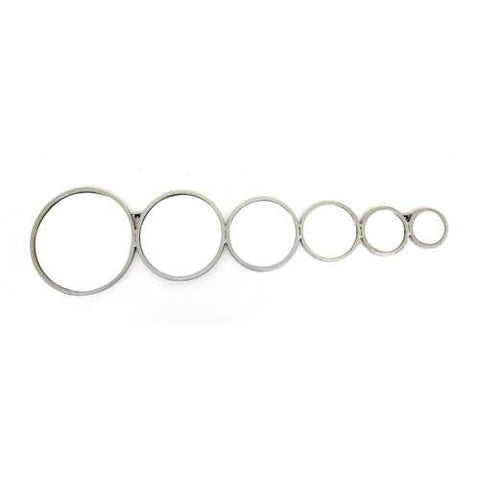 "12"" X 47"" Silver Contemporary Mirror Wall Decor With Bubble-Like Circles N270-274603"