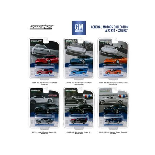 General Motors Collection Series 1, 6pc Set  1/64 Diecast Model Cars by Greenlight F977-27870