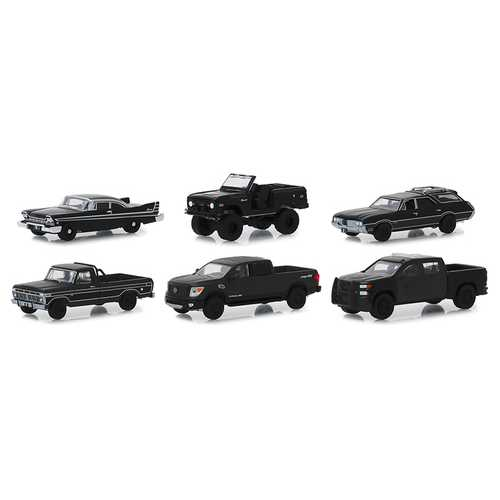 """Black Bandit"" 6 piece Set Series 21 1/64 Diecast Model Cars by Greenlight"