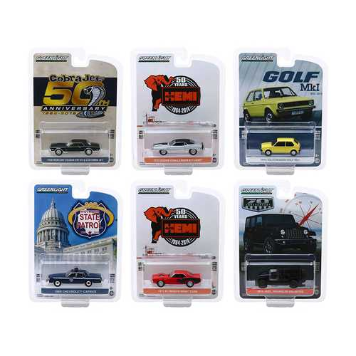 """Anniversary Collection"" Series 9, Set of 6 pieces 1/64 Diecast Model Cars by Greenlight F977-28000SET"
