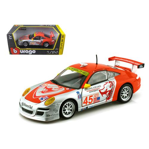 "Porsche 911 GT3 RSR #45 ""Flying Lizard"" 1/24 Diecast Car Model by Bburago F977-28002s/r"