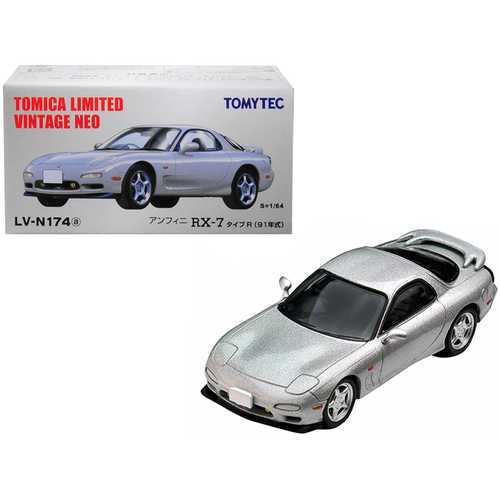 1991 Mazda Efini RX-7 Type R RHD (Right Hand Drive) Metallic Silver 1/64 Diecast Model Car by TomyT F977-288961