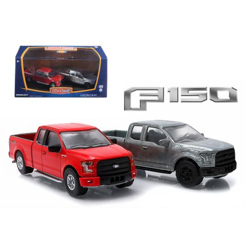 2015 Ford F-150 Pickup Trucks Hobby Only Exclusive 2 Cars Set 1/64 Diecast Models by Greenlight F977-29828
