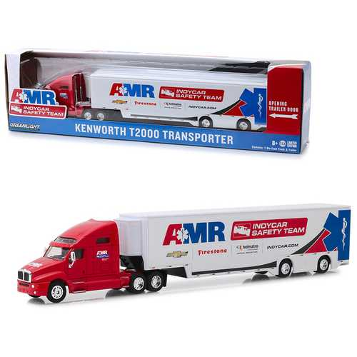 "Kenworth T2000 Transporter AMR IndyCar Safety Team ""Hobby Exclusive"" 1/64 Diecast Model by Greenlig F977-30038"