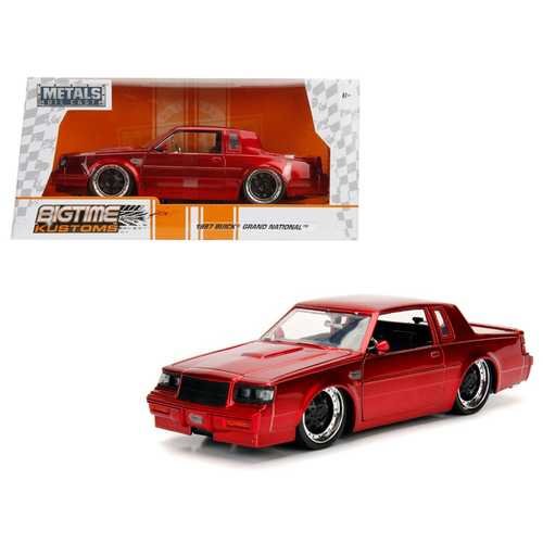 1987 Buick Grand National Candy Red 1/24 Diecast Model Car by Jada F977-30343