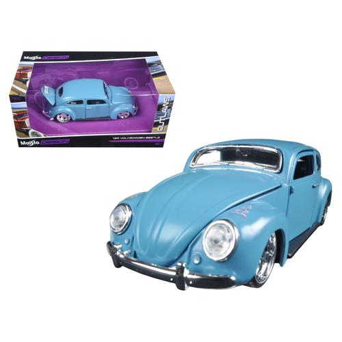 "Volkswagen Beetle Blue ""Outlaws"" 1/24 Diecast Model Car by Maisto F977-31023BL"