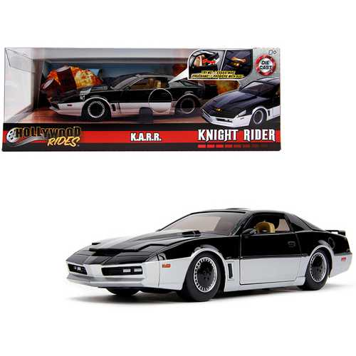 "K.A.R.R. Black and Silver with Light ""Knight Rider"" (1982) TV Series ""Hollywood Rides"" Series 1/24  F977-31115"
