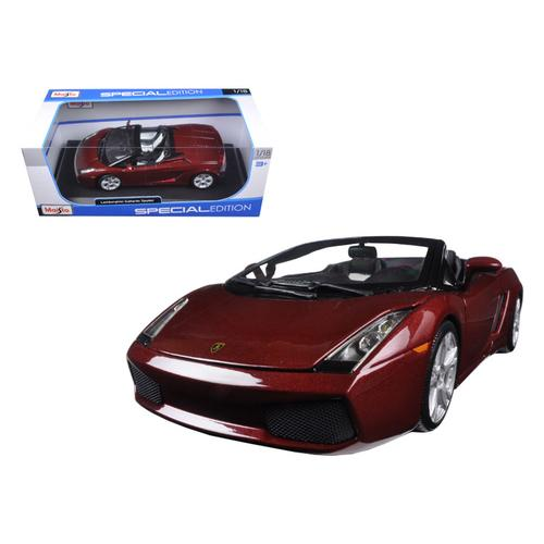 Lamborghini Gallardo Spyder Burgundy 1/18 Diecast Model Car by Maisto F977-31136bur