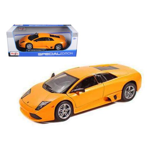 2007 Lamborghini Murcielago LP640 Orange 1/18 Diecast Model Car by Maisto F977-31148or